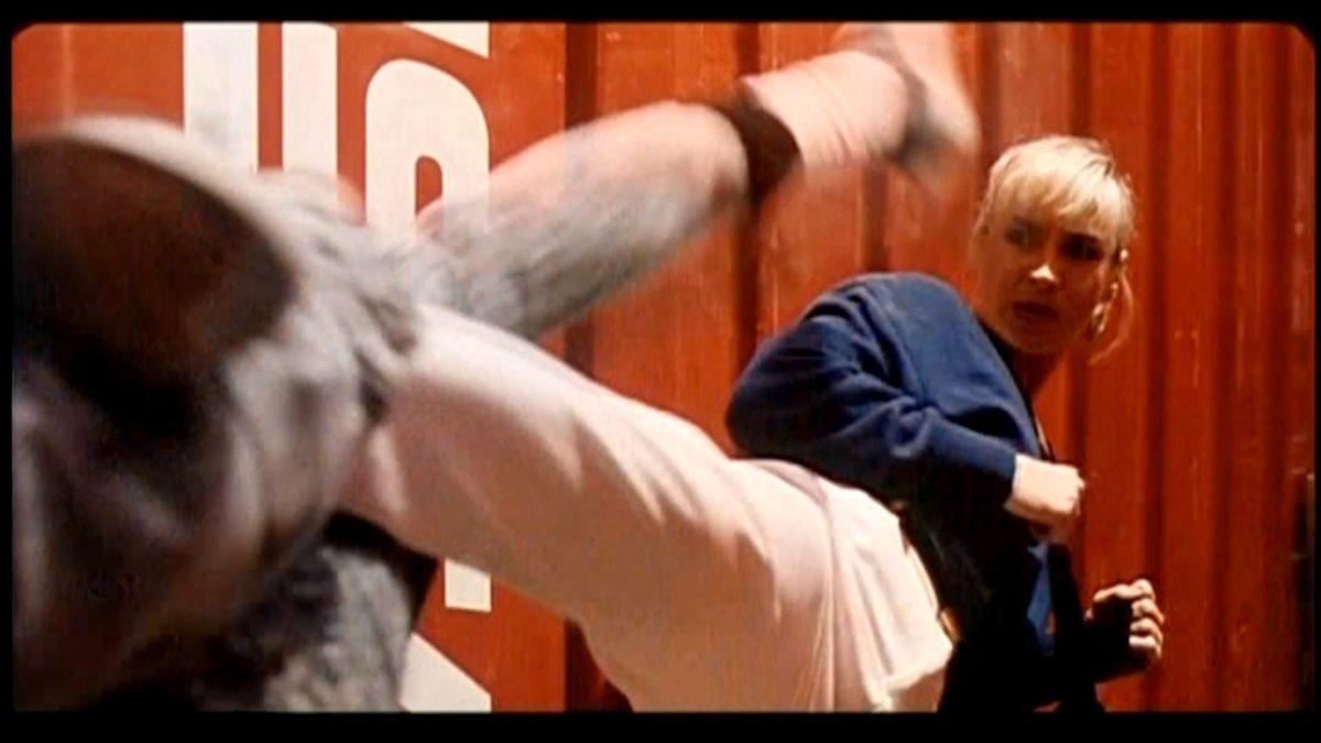 Blond bbw in action